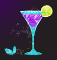 low poly martini cocktail vector image