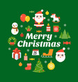 merry christmas typography font and icon vector image vector image