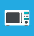 microwave flat style icon eps10 vector image vector image