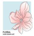 minimalist peony botanical valentine greeting card vector image