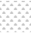 mining helmet pattern seamless vector image vector image