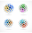 molecular structures set vector image