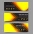 multipurpose layout banner design vector image vector image