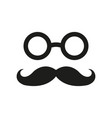 mustache icon simple flat vector image vector image
