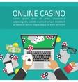 Online casino vector image