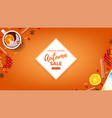 orange web banner for autumn seasonal sale vector image vector image