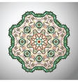 ornamental round colorful geometric pattern