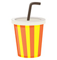 plastic up with yellow and orange stripes vector image