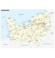 road map new french region normandy vector image