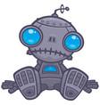 sad robot vector image vector image