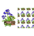 seamless background design with iris flowers and vector image vector image