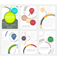 Set of flyer design with circular pattern vector image vector image
