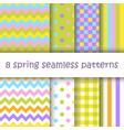 set of geometric seamless pattern in easter colors vector image vector image