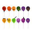 set of various evils balloon for halloween celebra vector image vector image