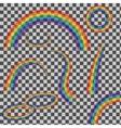 set rainbows vector image