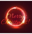 Shining Christmas star circle festive card design vector image vector image