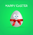 simple happy easter egg poster eps file vector image
