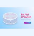 smart speaker voice control iot virtual assistant vector image vector image