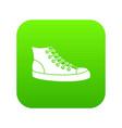 sneakers icon digital green vector image vector image