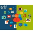 social networking concept vector image vector image