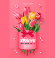 spring sale banner beautiful background with vector image vector image