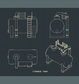 storage tank vector image