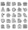 tax inspector icons set outline style vector image vector image