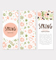 tender spring hand drawn flowers in card vector image