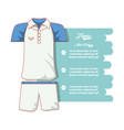 tennis men clothing icon vector image