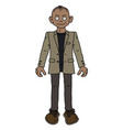 the funny man in a beige jacket vector image vector image