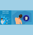 tips for back pain vector image vector image
