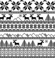 Traditional christmas knitted ornamental pattern vector image vector image