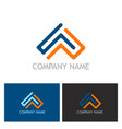 triangle line colored logo vector image vector image