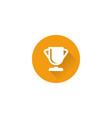trophy icon vector image vector image