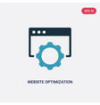two color website optimization icon from vector image vector image