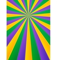 Violet yellow and green rays carnival poster vector image vector image