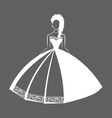 Wedding Dress 2 vector image vector image