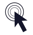 arrow pointer icon vector image