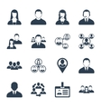 Human resource and management icons set vector image
