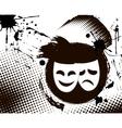 vintage theater masks emblem vector image