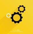 Cogwheel and development icon vector image