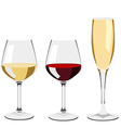 Glass of wine and champagne vector image
