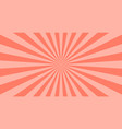 abstract coral sun rays background summer sunny vector image vector image