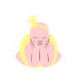 adorable newborn baby in golden crown and skirt vector image vector image