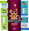 Amusement Park Infographics vector image vector image