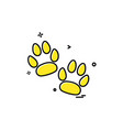 animal paws icon design vector image vector image
