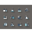 Architecture of industry flat color icons vector image vector image