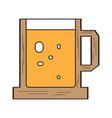 beer mug icon vector image