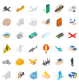 belay icons set isometric style vector image vector image