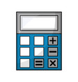 calculator math finance isometric icon vector image vector image